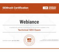 Webiance - Technical SEO Certification