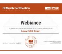 Webiance - Local SEO Certification